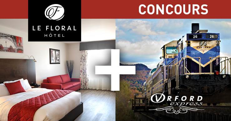 Concours Gagnez une randonnée sur l'Orford Express et séjour à l'Hôtel le Floral!