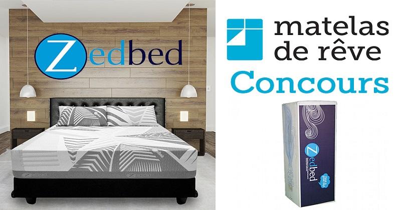 concours gagnez un matelas grand lit zedbed d une valeur de 1149 concours en ligne qu bec. Black Bedroom Furniture Sets. Home Design Ideas