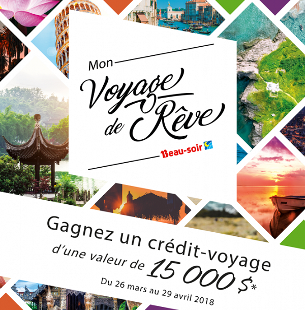 Concours Gagnez un crédit-voyage d'une valeur de 15 000$!