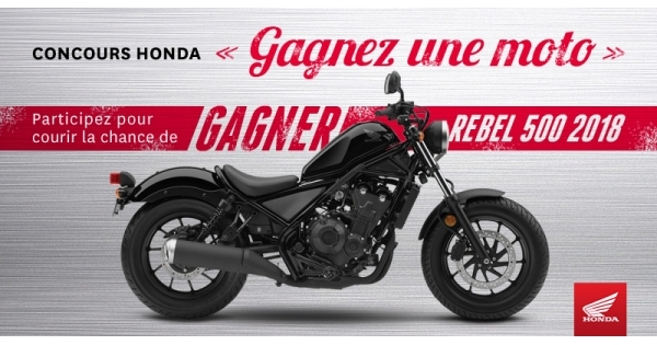 Concours GAGNEZ-UNE-MOTO HONDA!