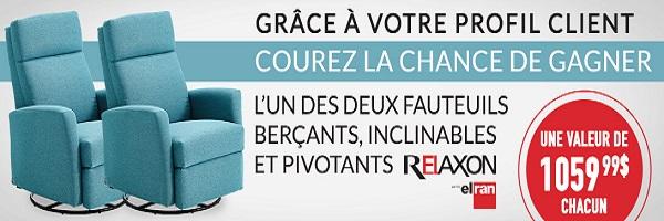 Concours gagnez 2 fauteuils ber ants pivotants for Liquida meuble quebec circulaire