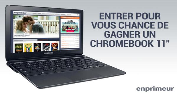 Concours Gagnez un portable Chromebook de 11''!
