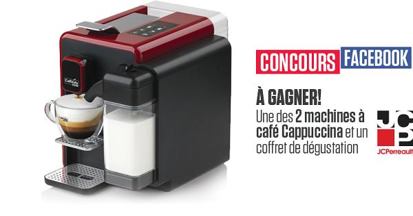 Concours Gagnez une machine à café Cappucina de Caffitaly ainsi qu'un coffret de dégustation!