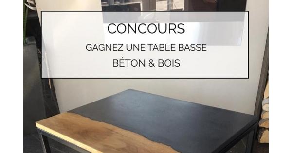 Ligne Une Table Basse Québec Bétonamp; BoisEn Gagnez Concours eH9bWYED2I