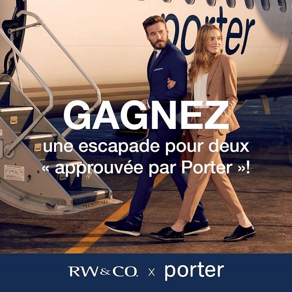 Concours Gagnez une escapade vers une destination voyage « approuvée par Porter »!