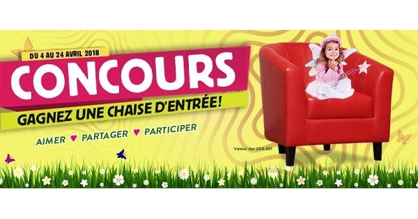 Concours gagnez une chaise d 39 entr e concours en ligne for Domon bijouterie