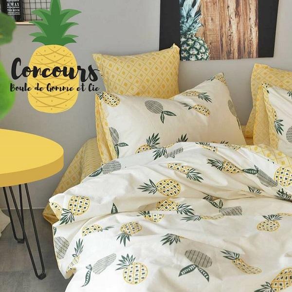Concours gagnez une literie de style 39 39 ananas for Accessoire cuisine en ligne