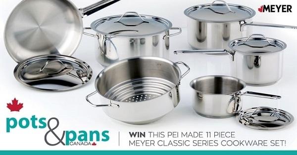 Concours Gagnez un ensemble de batterie de cuisine série MEYER de 11 pièces!