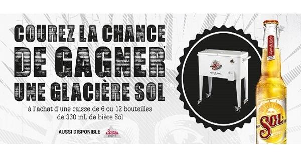 Concours Gagnez une glacière Sol!
