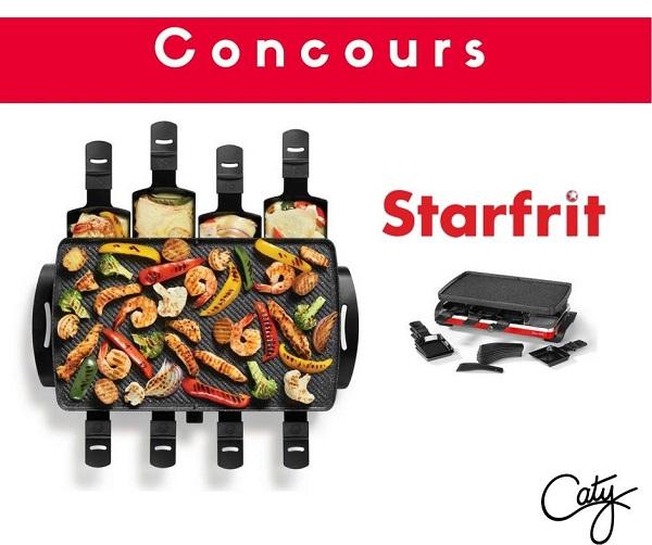 Concours Gagnez un ensemble à raclette The Rock de Starfrit!