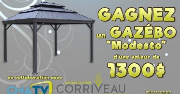 Concours Gagnez un gazébo Modesto de Corriveau Meubles de Jardin, d'une valeur de 1300$!