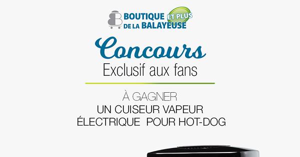 Concours Gagnez un cuiseur vapeur électrique portable pour hot-dog de la marque Starfrit!