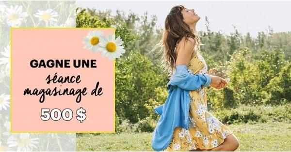 Concours Gagnez une séance magasinage de 500$ chez Ardène!