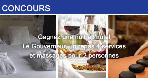Concours Gagnez une nuitée pour 2 personnes à l'hôtel Le Gouverneur Le Noranda, à Rouyn-Noranda!