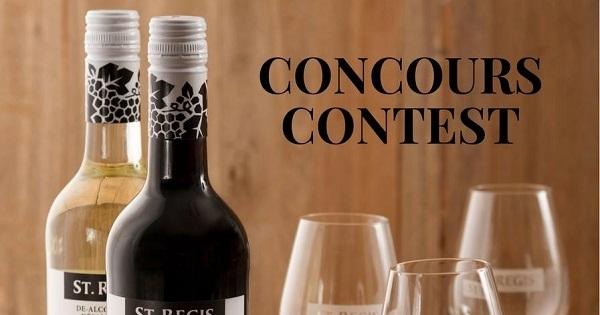 Concours Gagnez une bouteille de Cabernet Sauvignon et une bouteille de Chardonnay St.Regis ainsi que six magnifiques coupes à vin!