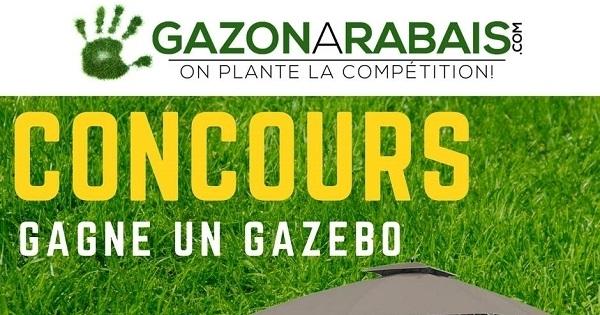 Concours Gagnez ce merveilleux GAZEBO livré directement chez vous par Gazon à rabais !