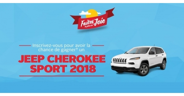 Concours Gagnez un Jeep Cherokee Sport 2018!
