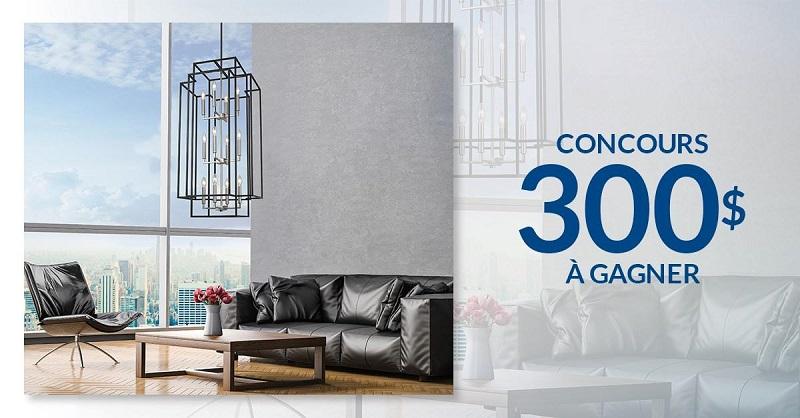concours gagnez 300 chez concept luminaire concours en ligne qu bec. Black Bedroom Furniture Sets. Home Design Ideas