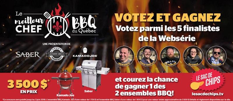 Concours Gagnez un des 2 ensemble BBQ!