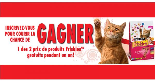 Concours Gagnez des produits Friskies gratuits pendant un an!