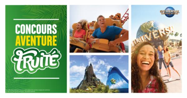 Concours Gagnez l'un des 3 voyages pour 4 personnes à Universal Orlando Resort!