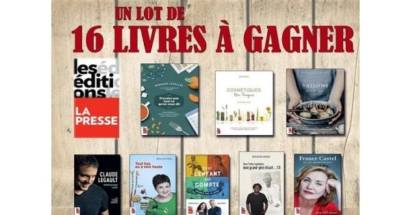 Concours UN LOT DE 16 LIVRES À GAGNER!
