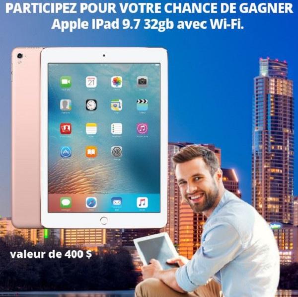 Concours Gagnez un iPad d'une valeur de 400$!