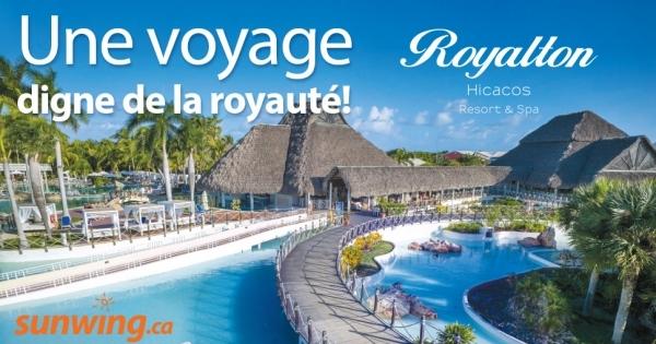 concours gagnez une escapade pour deux au royalton hicacos resort spa varadero concours. Black Bedroom Furniture Sets. Home Design Ideas