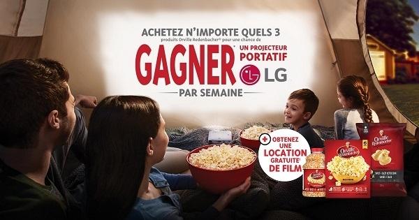 Concours Gagnez un Projecteur Portatif offert par Orville Redenbacher!