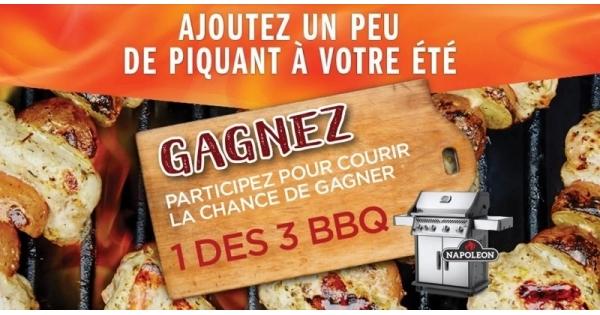 Concours Gagnez 1 des 3 BBQ cet été!
