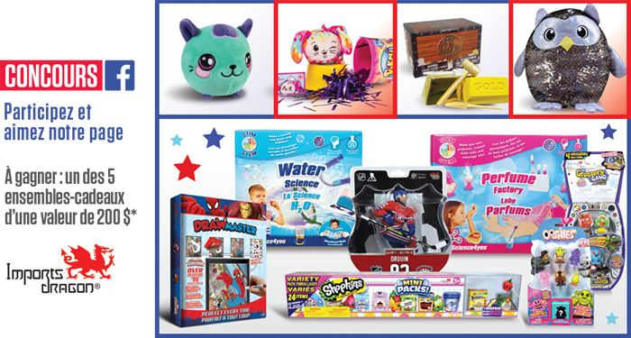 Concours Gagnez un des 5 ensembles-cadeaux Imports Dragon d'une valeur de 200$ chacun!