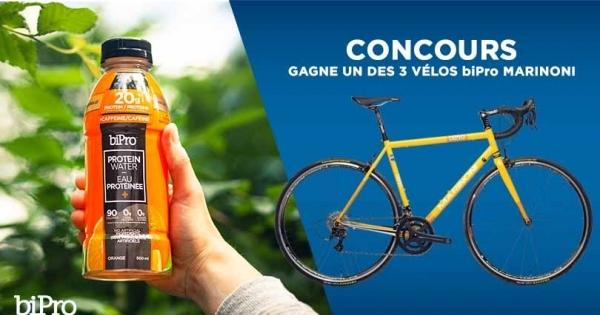 Concours Gagnez un des trois vélo Marinoni!