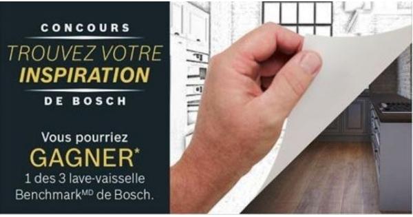 Concours Gagnez un des 3 lave-vaisselle Benchmark de Bosch!