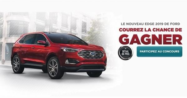 Concours Vous pourriez gagner une Ford Edge 2019!
