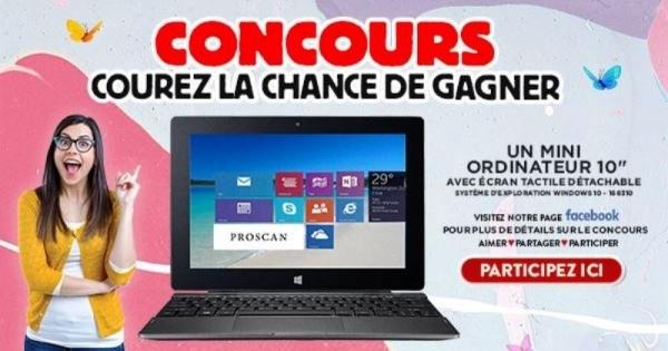 Concours Gagnez un mini-ordinateur 10 pouces offert par Meubles Domon!
