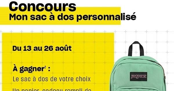 Concours MON SAC À DOS PERSONNALISÉ!