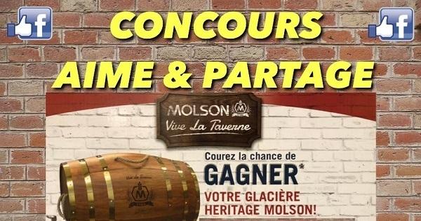 Concours GAGNEZ SUPERBE GLACIÈRE HERITAGE MOLSON!