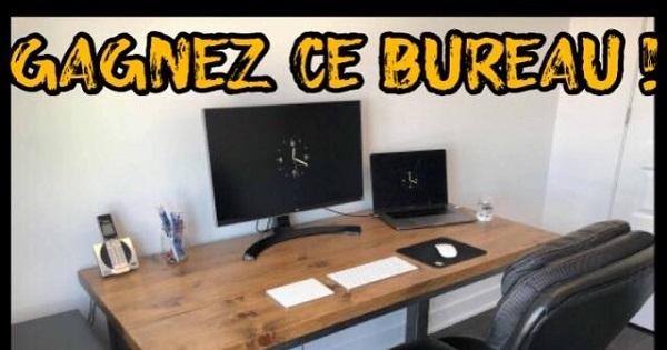 Concours GAGNEZ ce bureau de travail de l'Atelier Bleu de Plume!