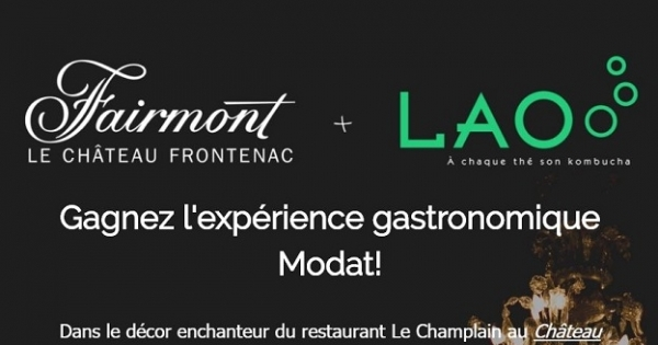 Concours Gagnez l'expérience gastronomique Modat!