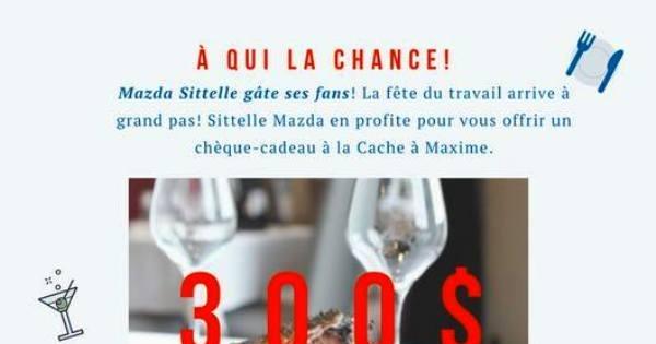 Concours Gagnez un chèque-cadeau de 300$ à la Cache à Maxime!