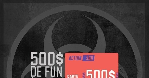 Concours Gagnez une carte-cadeau de 500$ chez Action 500!