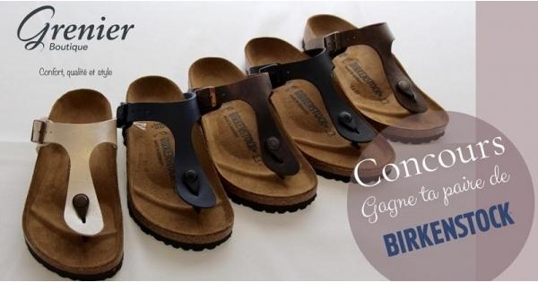 Concours Gagnez une paire de sandales Birkenstock!