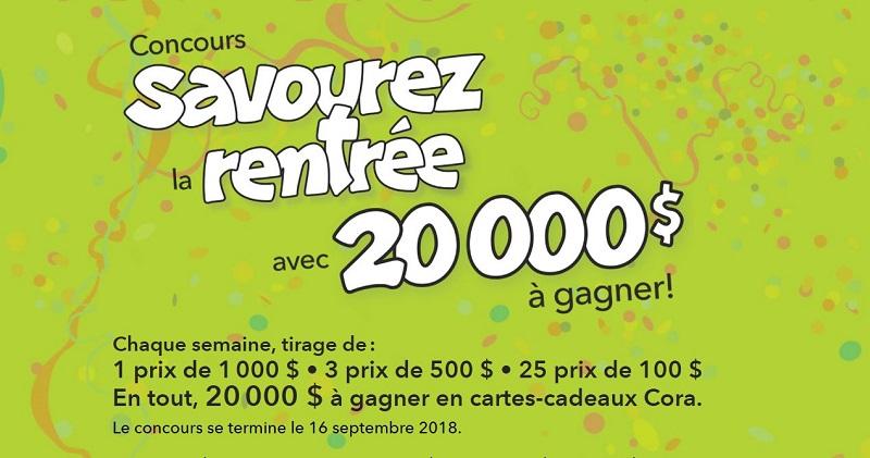 Carte Cora Fonctionnement.Concours 20000 A Gagner En Cartes Cadeaux Cora Concours