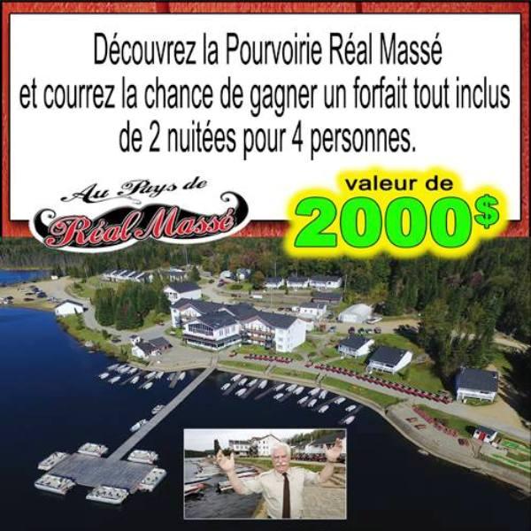 Concours Découvrez la Pourvoirie Réal Massé!