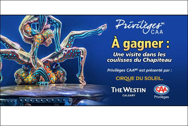 Concours Gagnez deux (2) billets pour un spectacle du Cirque du Soleil