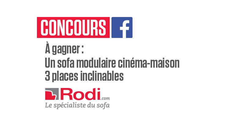 Concours Gagnez  un sofa modulaire cinéma-maison 3 places inclinables!