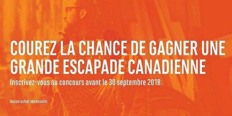 Concours LA GRANDE ESCAPADE CANADIENNE!