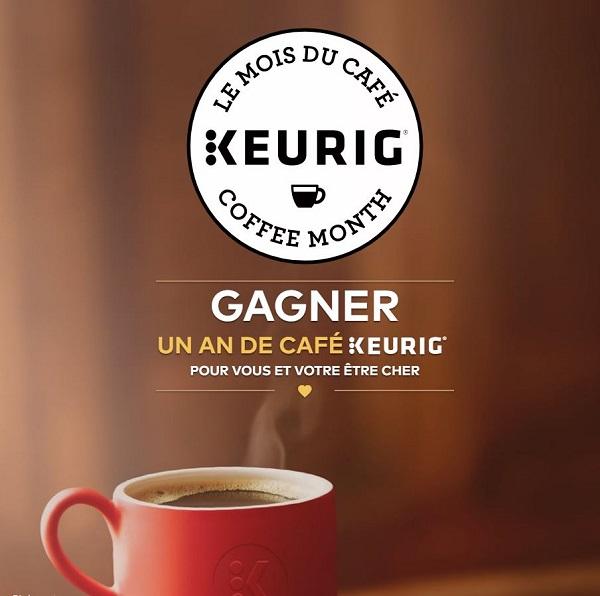 Concours Gagnez un an de café Keurig pour vous et un ami!