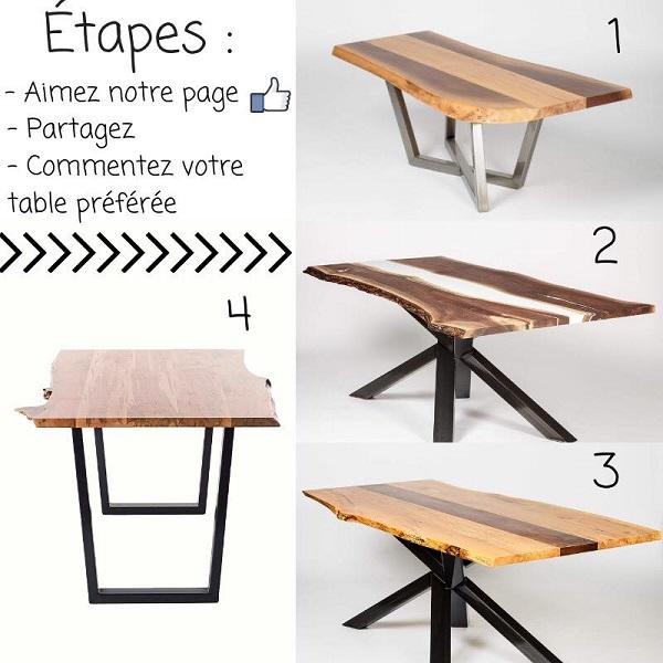 Concours Gagnez une table offerte par Concept M Rustique!