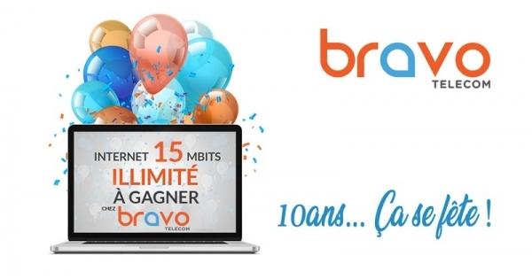 Concours Gagnez 6 mois d'Internet illimité avec Bravo Telecom!